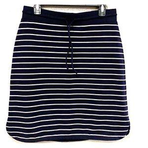 Talbots stretch woven midi skirt size small